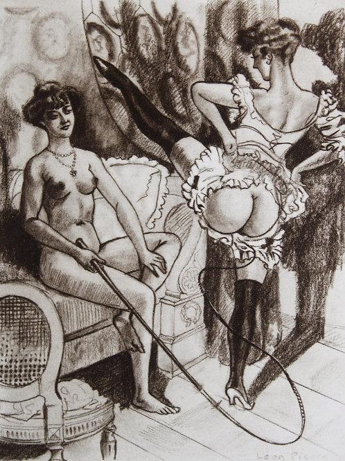 Mrs. Goodwhip et son Esclave (1932). Orties Blanches. Fessée BDSM