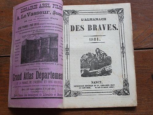 Almanach des Braves 1881 Nancy