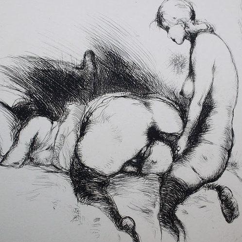 Frans de Geetere. Idylle. Eau-forte érotique (1930). 150 exemplaires