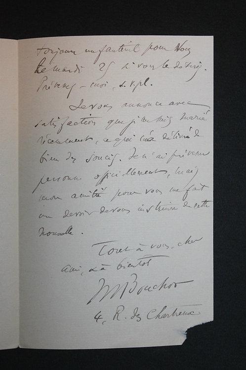 Ensemble de 8 belles lettres autographes de Maurice Bouchor à Octave Uzanne