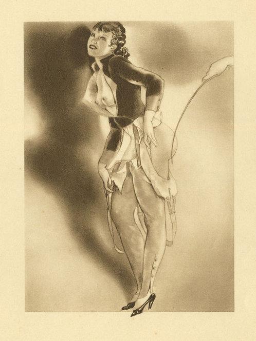 Estampe érotique BDSM Bondage Soumission Sado-Masochisme 1930