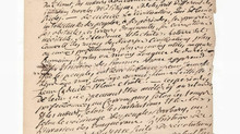 """Manuscrit autographe de Bertrand Barère de Vieuzac (1755-1841), avocat et révolutionnaire.""""Des"""