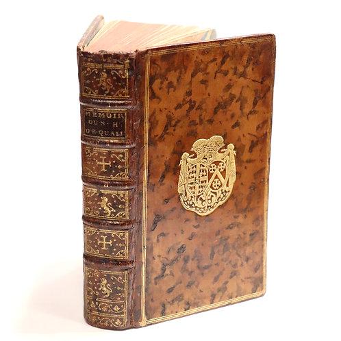 Rétif de la Bretonne. Nouveaux Mémoires d'un homme de qualité (1774). Aux armes.