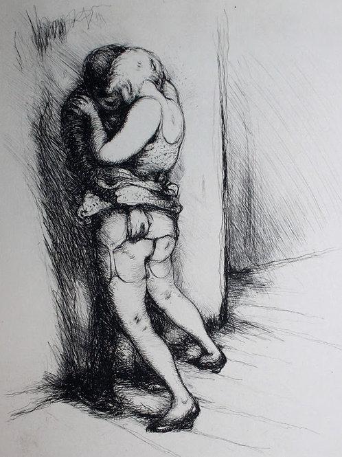Frans de Geetere. Coulisses. Eau-forte érotique (vers 1930). 150 ex