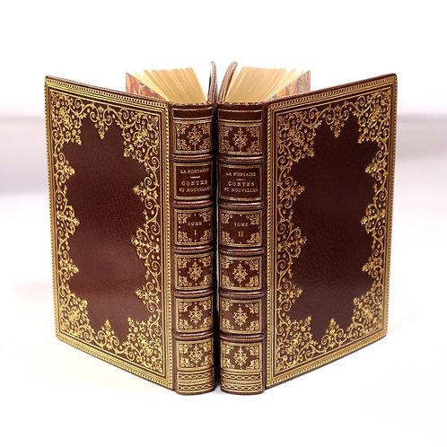 Jean de La Fontaine. Contes et Nouvelles en vers (1762). Réimpression de luxe.