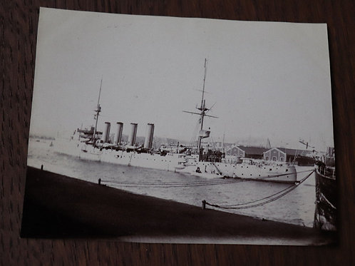 Photographie ancienne 1905 Carnavon Marine Anglaise bateau militaire