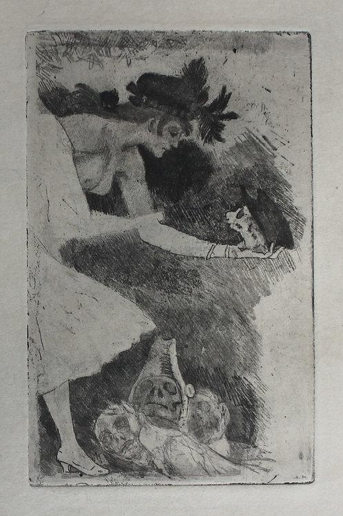 Félicien Rops par Octave Uzanne (1892). Tiré à part sur Japon avec envoi