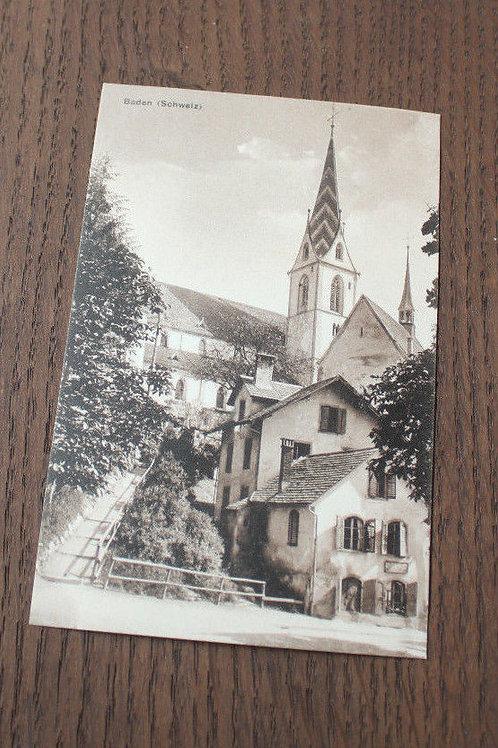 CPA Baden Schweiz église vieille rue Suisse