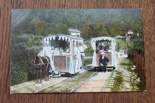 CPA Station de Tramway à cheval de Gagry Le Caucase Russie
