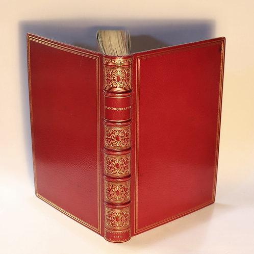 Rétif de la Bretonne. L'Andrographe (1782). Superbe exemplaire en maroquin signé
