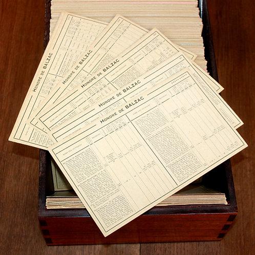 Hector Talvart. La Fiche Bibliographique (1922-1931). Coffret de luxe en acajou