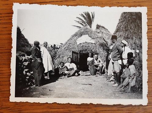 Photo ancienne vers 1930 Maroc Afrique Village indigène