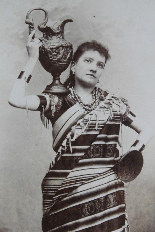 Photographie ancienne format cabinet Chanteuse légère d'opéra Fanny Ellés Belge