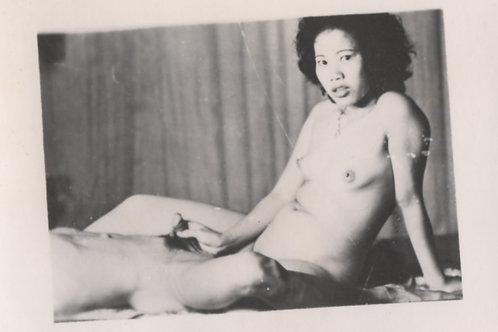 Photographie originale amateur érotique (vers 1970). Ref. 396