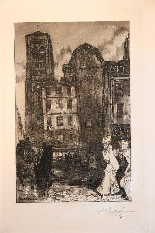 Auguste Lepère. J.-K. Huysmans. La Bièvre, Les Gobelins, Saint-Séverin (1901)