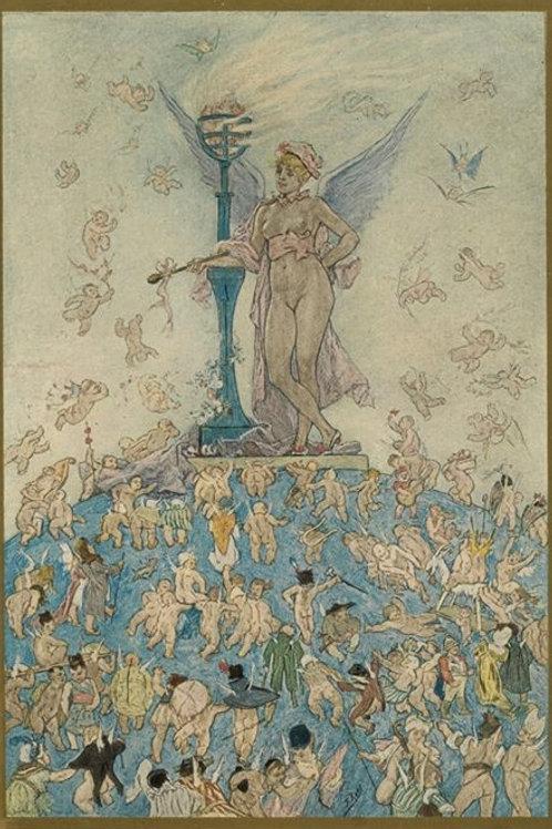 Félicien Rops. L'amour à travers les âges. La femme souveraine. 1892. Superbe
