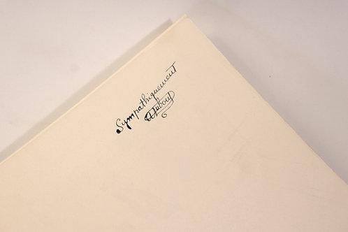 Albert Dubout. Le Code de la Route (1955). 1 des 20 ex. + 2 suites + autographe