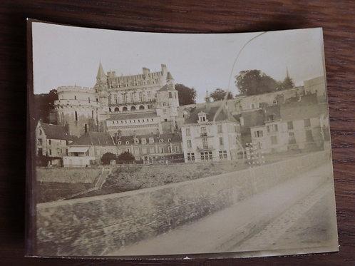 Photographie ancienne 1900 Château de la Loire Amboise
