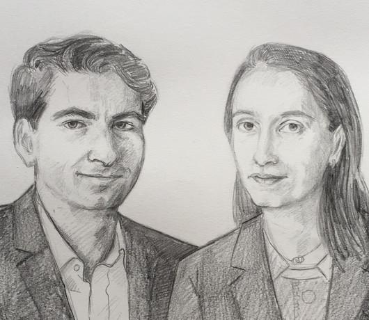 Portrait de mariage, détail.