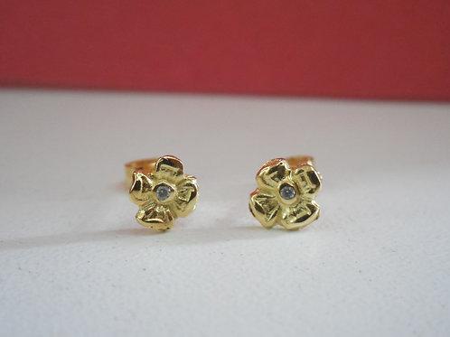 Aretes de oro 18k Flor