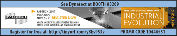 Register for Free at FABTECH 2017 courtesy of Dynatect