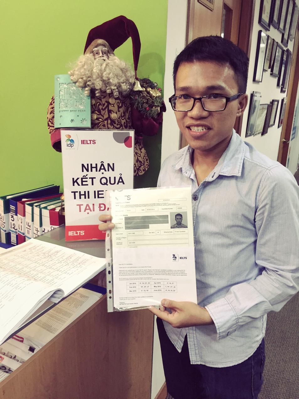 Luyen thi Ielts 6.5 nhận bảng điểm tại IDP MAC DINH CHI HCM