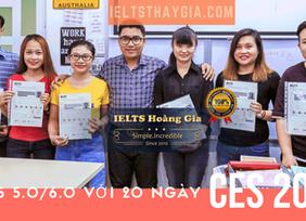 Thêm 6 thí sinh đạt cam kết Ielts 5.0 và 6.0 chỉ trong 1 tháng học.