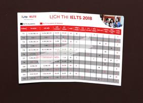 Lịch thi Ielts mới nhất 2018 Hcm và các tỉnh.