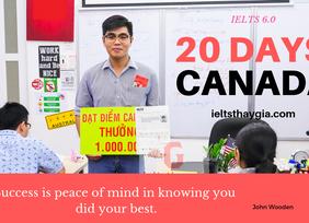 Mới - Cam kết Ielts 6.0 học 55 ngày, nhưng thành công trong 20 ngày học.