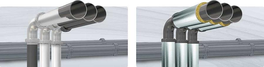 Жидкая теплоизоляция Астратек металл в сравнении с традиционной теплоизоляцией труб