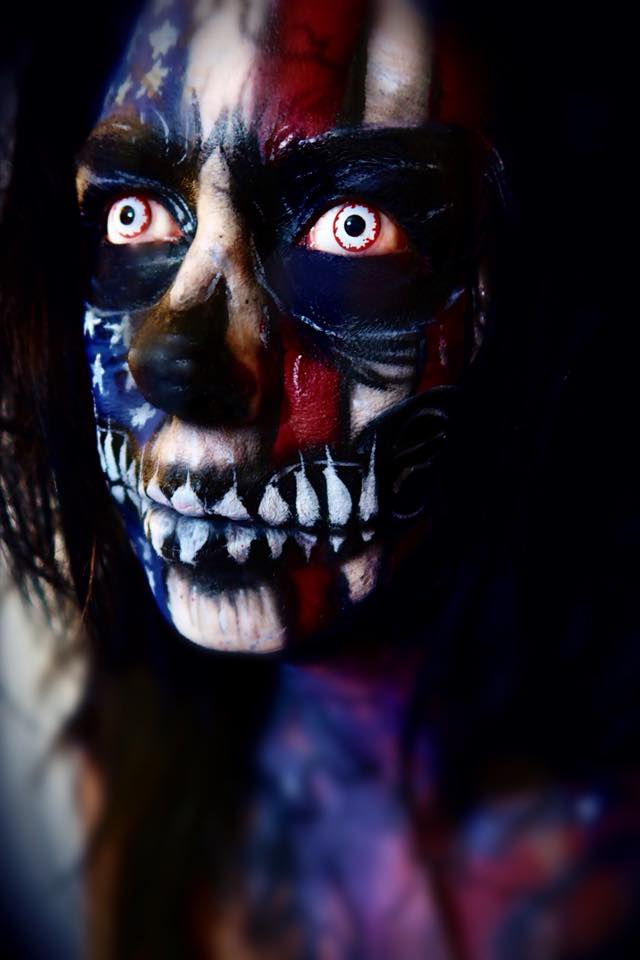 Jacquie Lantern -  Patriotic Skull