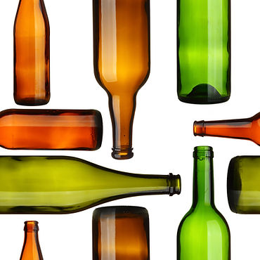Seamless pattern - Empty bottles over wh