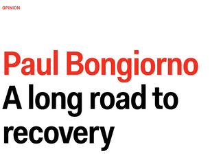 Paul Bongiorno A long road to recovery