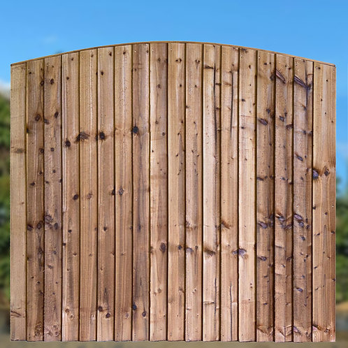 SSR Closeboard Arched Fence Panels - Various Sizes