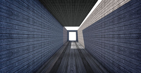 túnel de madera