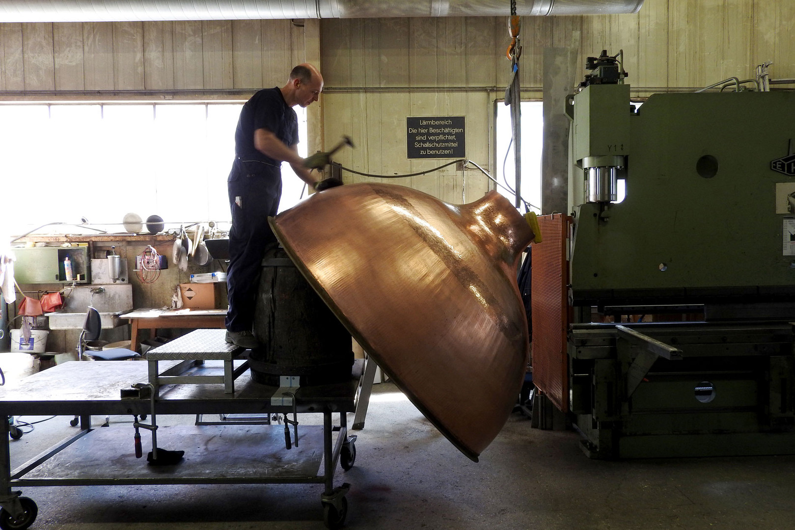 Our Bavarian Coppersmith at work
