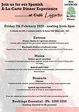 Feb 2020 - Spanish menu