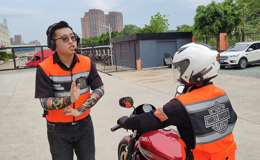Harley Davidson motorcycle training in China