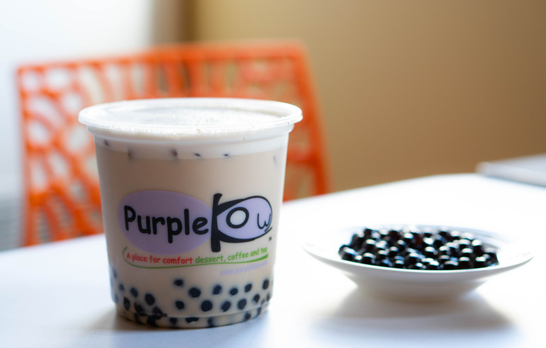 B1 Purple Kow Milk Tea with Organic Milk and Boba