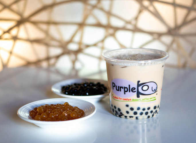 B1 Purple Kow Milk Tea with Boba