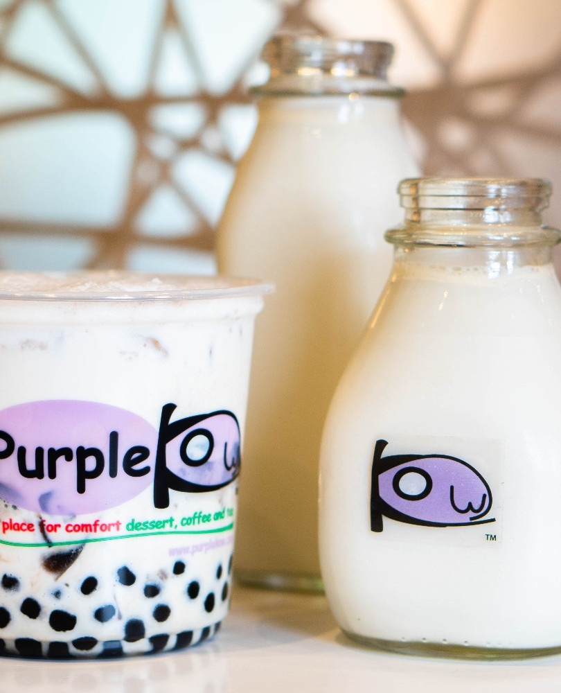 D4 with Grass Jelly & Boba