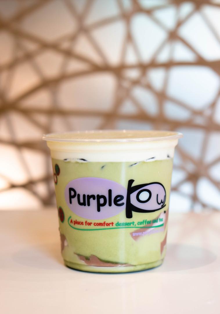 B8 Matcha Milk Green Tea with Tcho's Chocolate Pudding