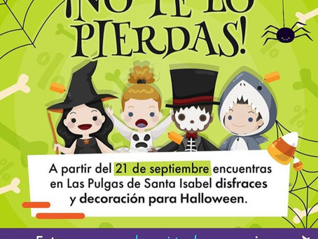 ¡Halloween llega a las Pulgas de Santa Isabel!