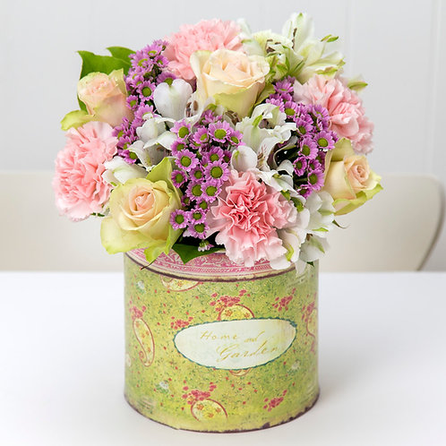 Vintage flores al amanecer