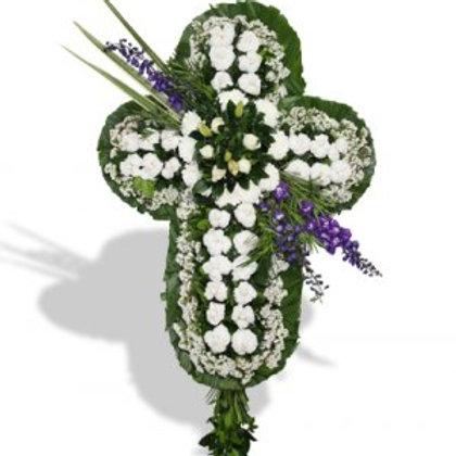 Eternidad cruz floral