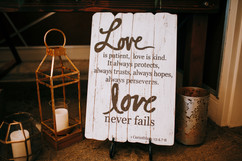 Lanterns and Love Signs