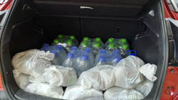 supplies and water
