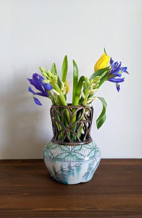 Bronze Cut Out Vase