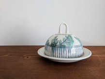 Butter Dish with Vine Deco