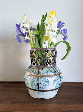 Bronze Cut Out Vase